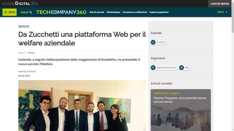 Network Digital 360 - Da Zucchetti una piattaforma Web per il welfare aziendale