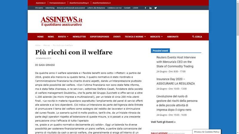 Assinews - Più ricchi con il welfare