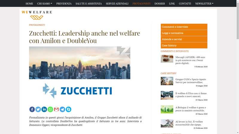 Wewelfare - Zucchetti: Leadership anche nel welfare con Amilon e DoubleYou