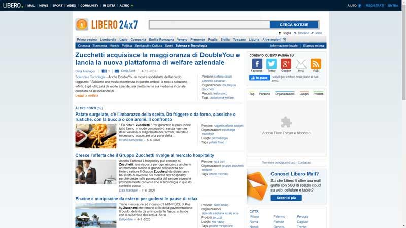 libero 24X7 - Zucchetti acquisisce la maggioranza di DoubleYou e lancia la nuova piattaforma di welfare aziendale